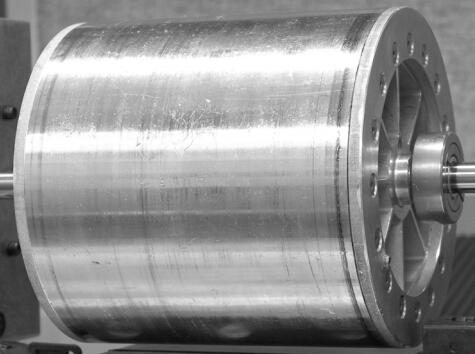 radial  Halbach magnetic bearing rotor