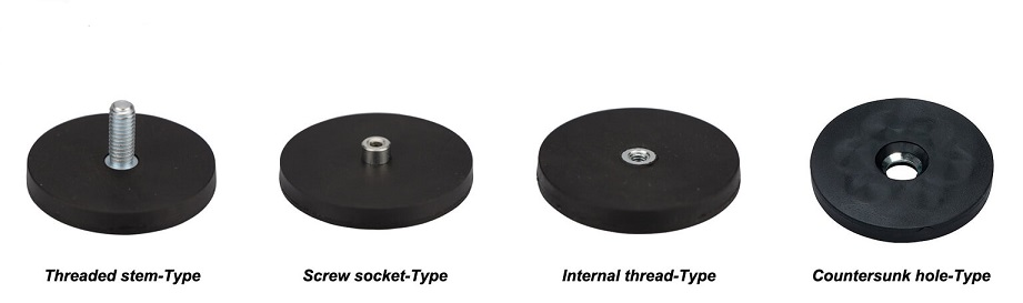 Different Types ofRubber-Coated Magnets